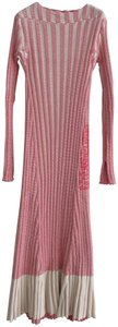 Red White Two Toned Maxi Dress by Céline