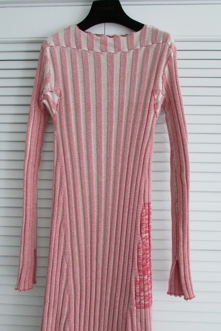 Red White Two Toned Maxi Dress by Céline Image 10