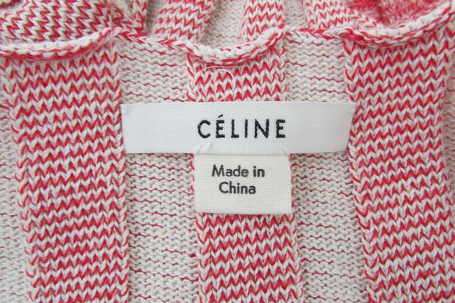 Red White Two Toned Maxi Dress by Céline Image 5