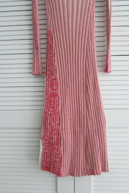 Red White Two Toned Maxi Dress by Céline Image 6