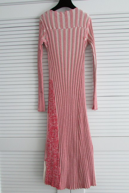 Red White Two Toned Maxi Dress by Céline Image 7