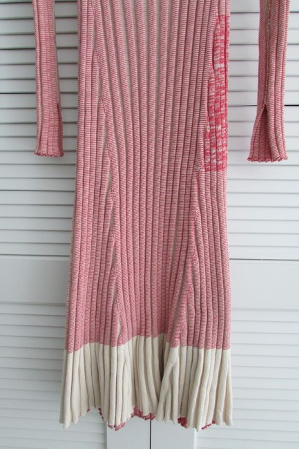 Red White Two Toned Maxi Dress by Céline Image 8