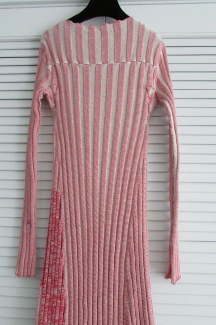 Red White Two Toned Maxi Dress by Céline Image 9