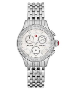 Michele FLASH-SALE Jetway Diamond Mother Of Pearl Dial Chronograph Watch