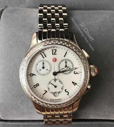 Michele FLASH-SALE Jetway Diamond Mother Of Pearl Dial Chronograph Watch Image 1