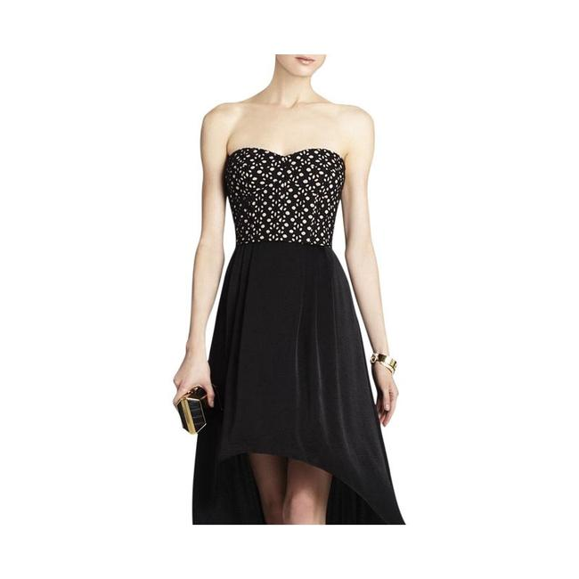 BCBGMAXAZRIA Eyelet Corset High-low Hem Strapless Dress Image 1