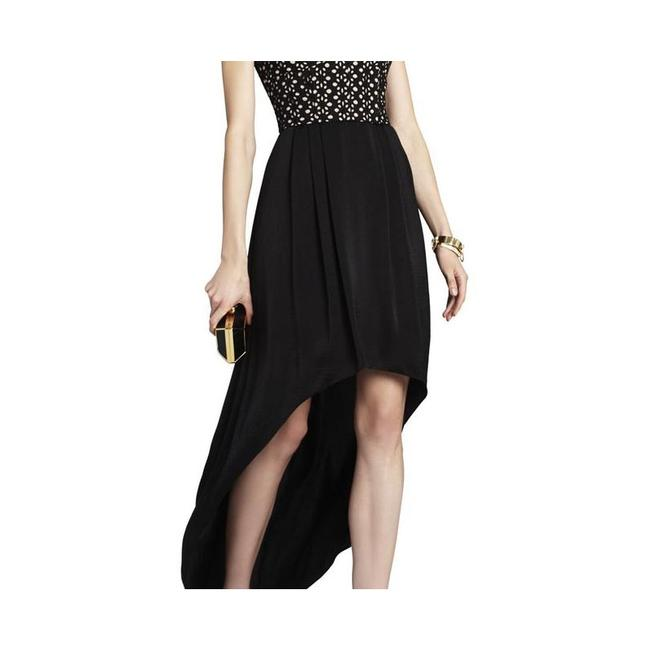 BCBGMAXAZRIA Eyelet Corset High-low Hem Strapless Dress Image 2