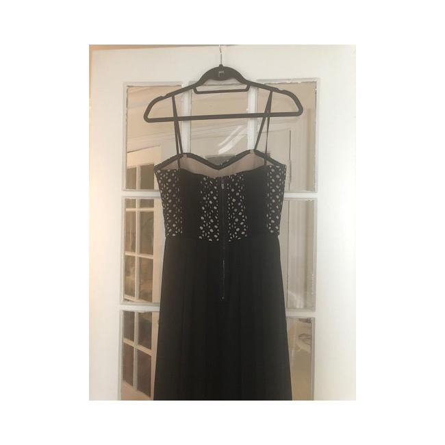 BCBGMAXAZRIA Eyelet Corset High-low Hem Strapless Dress Image 7