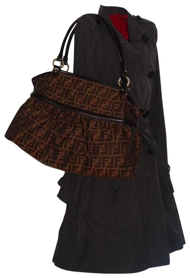 379c1360da5e Fendi Zucca-print Large Pleated Chef Tobacco Canvas Hobo Bag - Tradesy