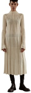 Cream Wool Silk Blend Maxi Dress by Céline