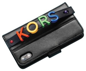 Michael Kors Embellished Leather Hand-Strap Folio Case For iPhone X/XS