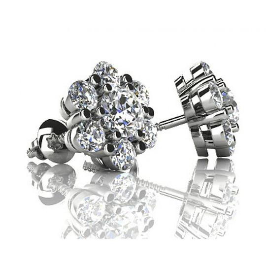 Madina Jewelry White 1.50 Ct Round Cut Diamond Stud In Screw Back Earrings Image 1