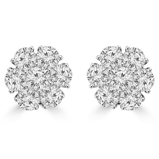 Preload https://img-static.tradesy.com/item/24073229/madina-jewelry-white-180-ct-round-cut-diamond-cluster-in-18-kt-gold-earrings-0-0-540-540.jpg