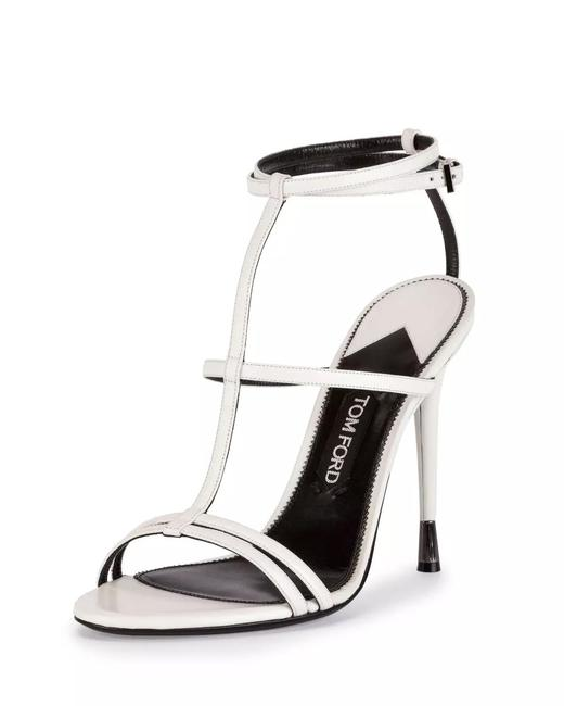 Item - White Chalk Leather T-strap Cage Sandals Size EU 40 (Approx. US 10) Regular (M, B)