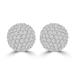 Madina Jewelry White 2.35 Ct Half Ball Round Cut Diamond G Color Si-1 Clarity) Earrings