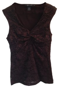Rampage Top Brown Lace