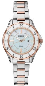 Seiko SUT340 Quartz Women's Silver Steel Bracelet With Mother Of Pearl Dial
