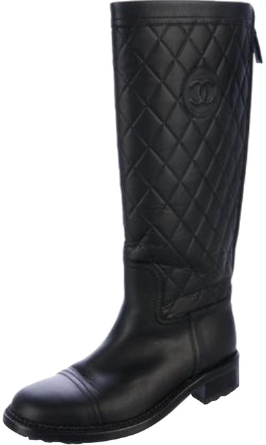 Item - Black Mid-calf Quilted Boots/Booties Size US 6.5 Narrow (Aa, N)