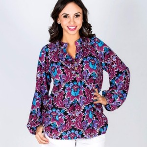 Tracy Negoshian Top Purple