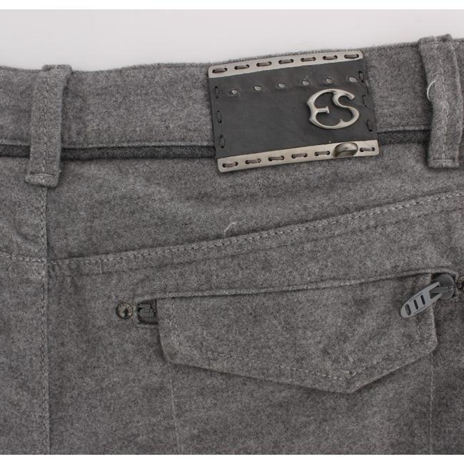 Ermanno Scervino D30297-3 Women's Fit Casual Straight Pants Gray