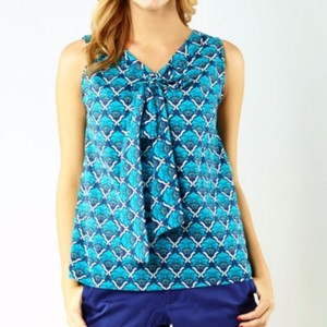 Tracy Negoshian Top Blue