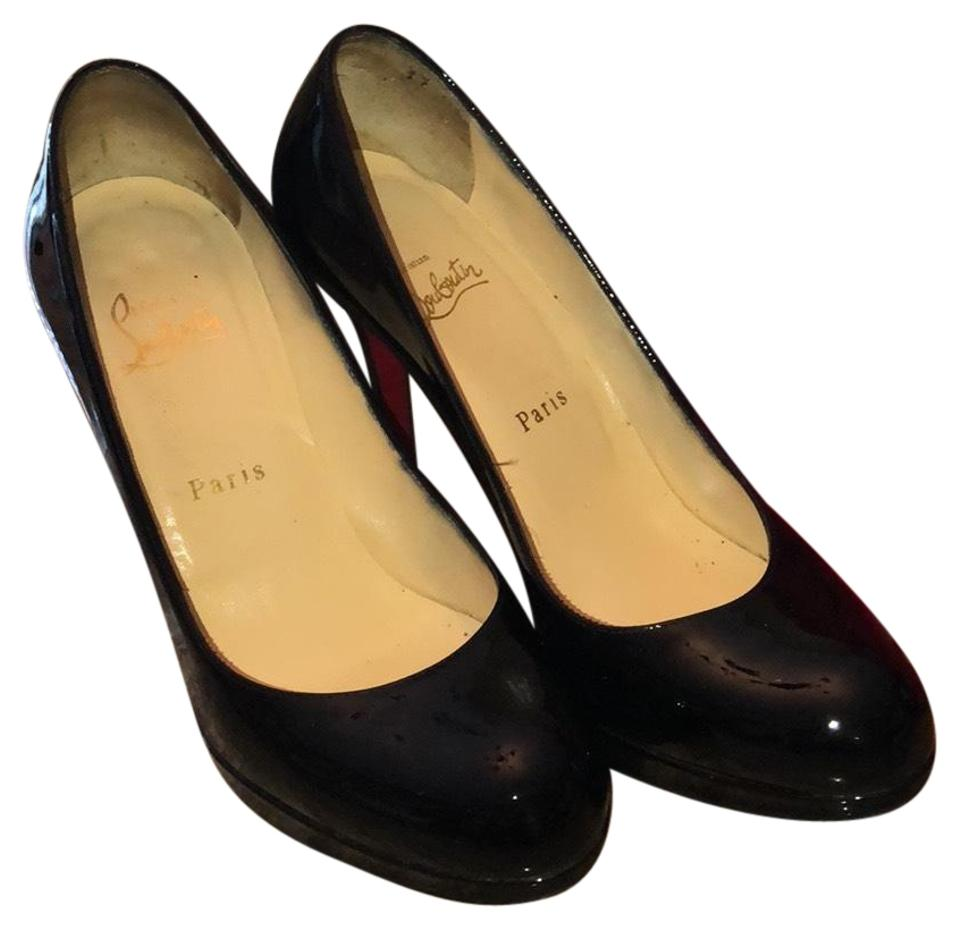 83f321a79d0 Christian Louboutin Black New Simple Pump 120 Patent Calf Platforms ...