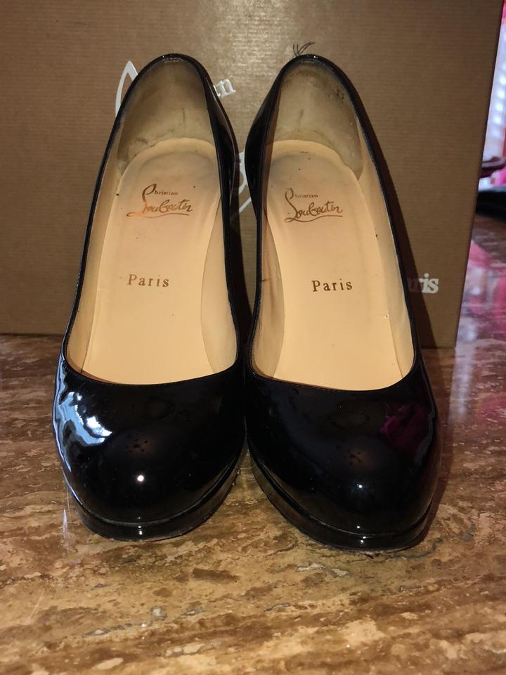big sale 6df15 5e0b4 Christian Louboutin Black New Simple Pump 120 Patent Calf Platforms Size EU  38.5 (Approx. US 8.5) Regular (M, B) 61% off retail