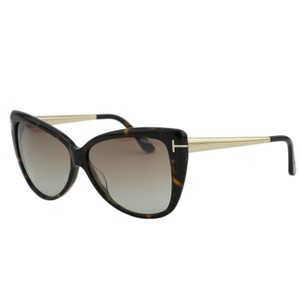 Tom Ford New Tf Reveka Ft0512 Women Titanium Gold T Logo Butterfly Sunglasses