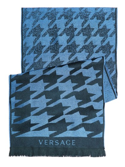 Versace Stylish Blue Scarf NW#54943