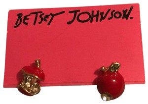 Betsey Johnson Apple earrings
