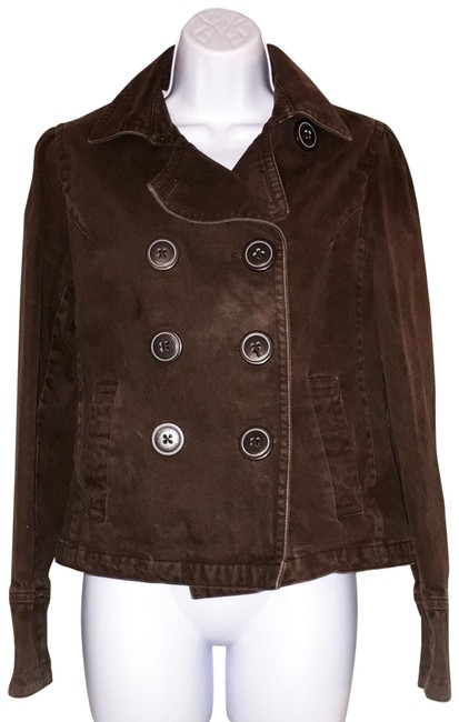 Preload https://img-static.tradesy.com/item/24074579/american-eagle-outfitters-brown-brushed-twill-short-coat-jacket-size-8-m-0-1-650-650.jpg