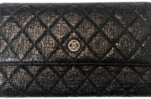Chanel CHANEL BLACK LEATHER WALLET
