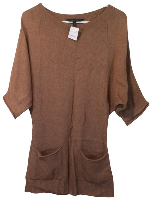 Preload https://img-static.tradesy.com/item/24074587/bcbgmaxazria-tan-double-front-pockets-wool-and-cashmere-blend-sweater-dress-mid-length-short-casual-0-2-650-650.jpg