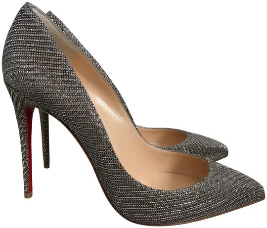 Preload https://img-static.tradesy.com/item/24074588/christian-louboutin-dark-silver-pigalle-follies-glitter-chain-fabric-pointed-pumps-size-eu-375-appro-0-1-540-540.jpg