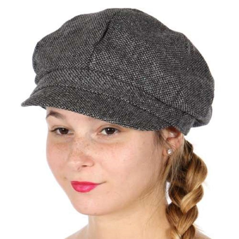 6b5f13221a22a cabbie hat New Womens tweed bakerboy Newsboy Cabbie Cap Hat Image 0 ...