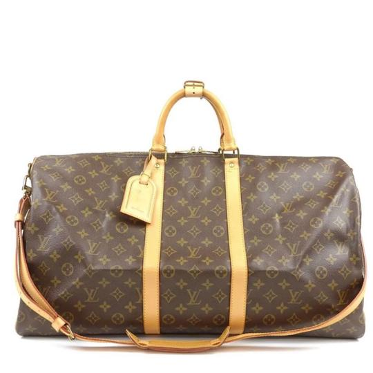 Preload https://img-static.tradesy.com/item/24074624/louis-vuitton-keepall-bandouliere-55-monogram-with-strap-name-tag-poignet-brown-coated-canvas-weeken-0-2-540-540.jpg