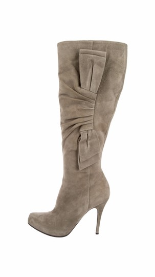 Valentino High Fall Suede Tall Nude Boots
