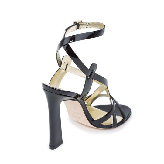 Dsquared2 D2 Women Genuine Leather Ankle-wrap Black Sandals