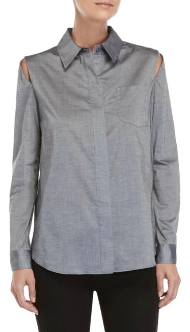 Preload https://img-static.tradesy.com/item/24074670/milly-grey-cassie-button-down-top-size-6-s-0-1-650-650.jpg