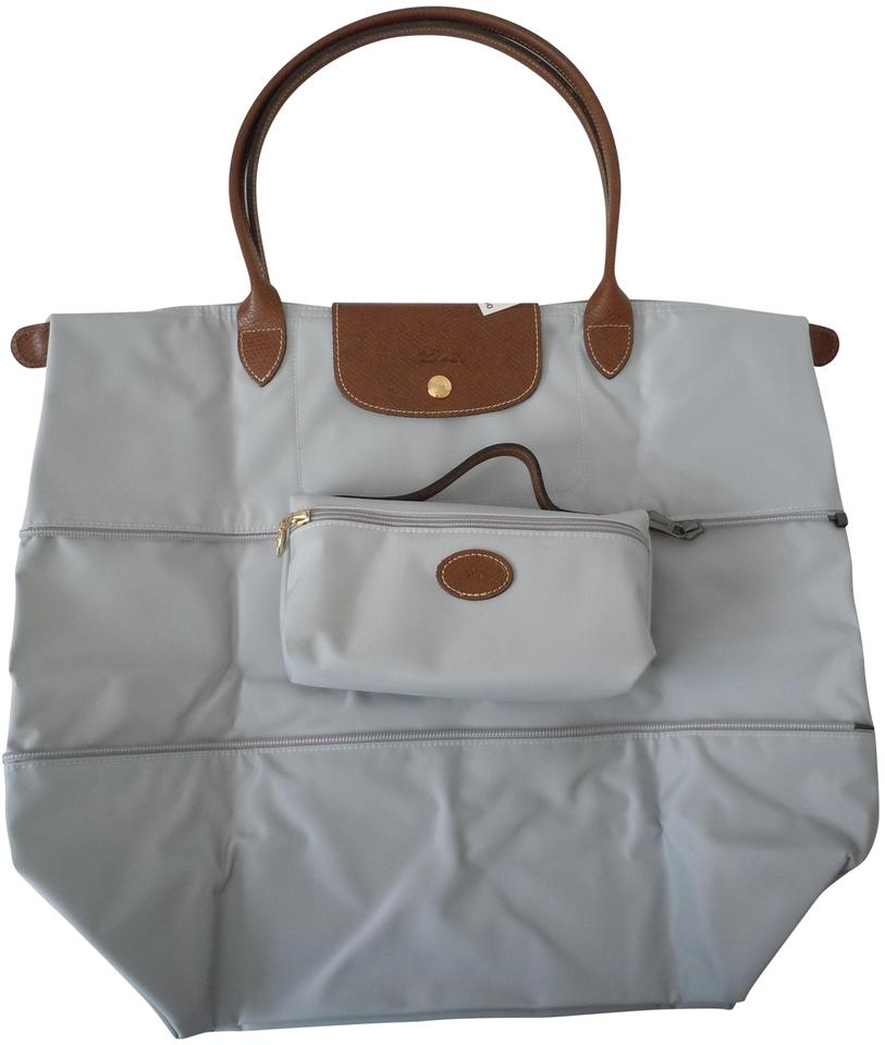 8bb9ab19ffe9 Longchamp Le Pliage Large Expandable Made In France Pearl Cosmetic ...