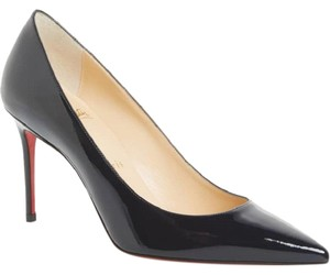 Christian Louboutin Leather Pointed Toe Blue Pumps