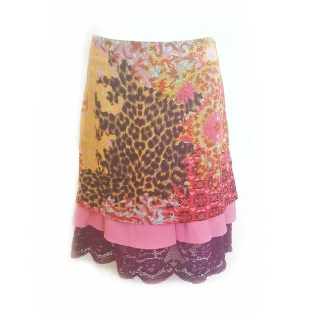Preload https://img-static.tradesy.com/item/24074727/christian-lacroix-pink-bazar-colorful-tiered-skirt-size-8-m-29-30-0-0-650-650.jpg