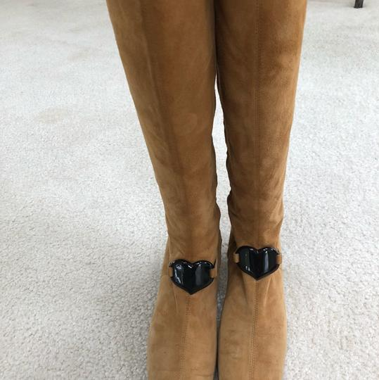 Moschino Carmel colored tan Boots