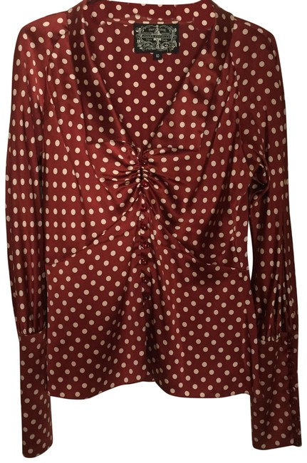 Preload https://img-static.tradesy.com/item/24074748/james-coviello-rust-with-white-polka-dots-character-hatters-blouse-size-10-m-0-1-650-650.jpg