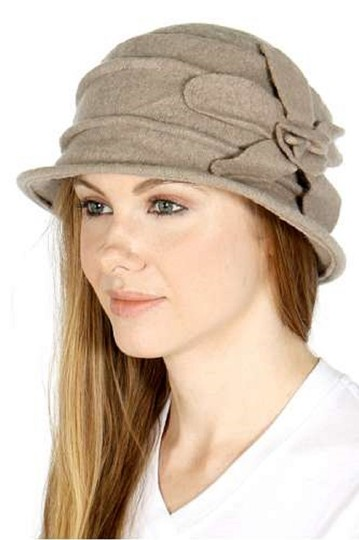 Other New Womens Wool bucket hat flower point Winter Hat