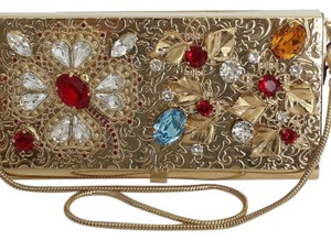 Dolce&Gabbana D30203-1 Women's Brass Crystal Gold Clutch