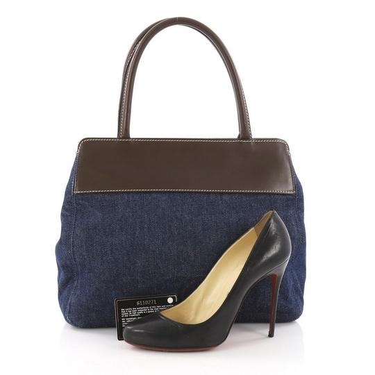 Chanel Denim Leather Tote in Blue