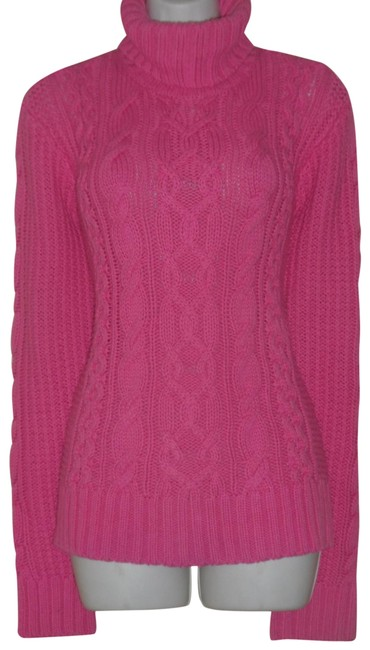 Preload https://img-static.tradesy.com/item/24074813/lauren-jeans-company-pink-co-cable-knit-sweater-sweatshirthoodie-size-16-xl-plus-0x-0-1-650-650.jpg