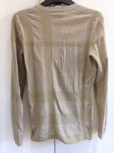 Burberry London V-neck Vintage Nude Sweater