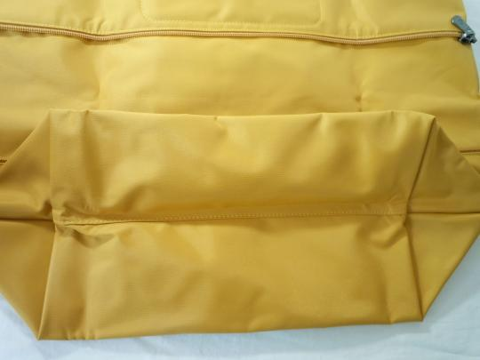 Longchamp Nylon Leather Travel Shoulder Tote in yellow